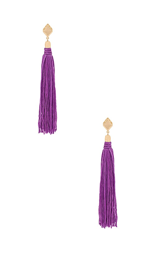 Ettika Tassel Earrings in Metallic Gold