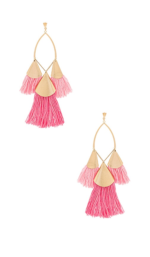Tri Tassel Earrings