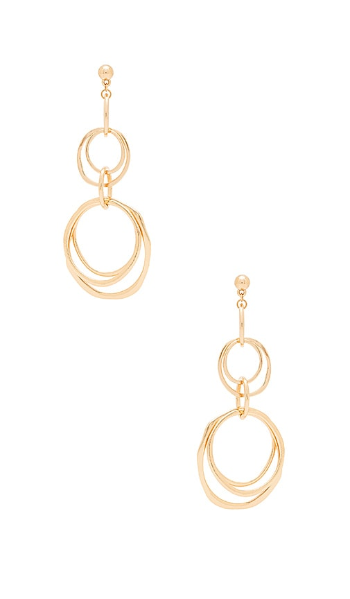Ettika Multi Ring Earrings in Metallic Gold