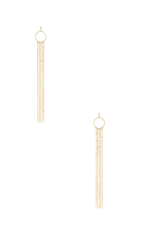 Ettika Circle Waterfall Earrings in Metallic Gold