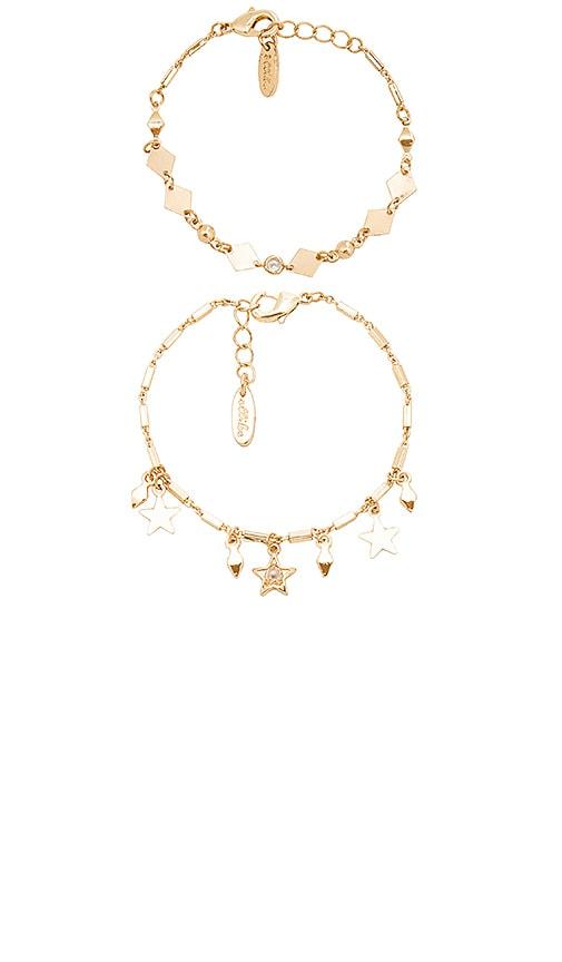 Ettika It's All In The Stars Bracelet Set in Metallic Gold