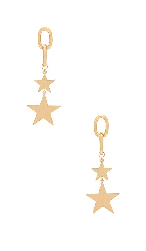 Ettika Starry Eyed Earrings in Metallic Gold