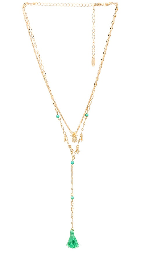 Ettika Layered Pineapple Necklace in Gold