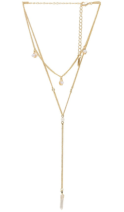 Layered Stone Necklace in Gold Ettika