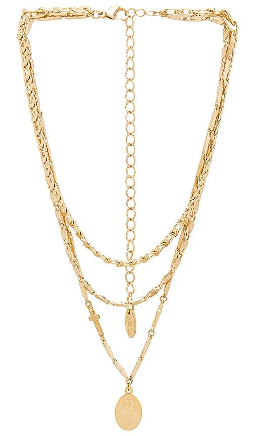 Ettika Mixed Layers Necklace in Metallic Gold