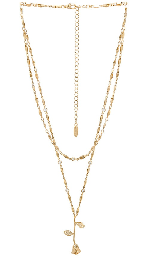 Ettika X REVOLVE Layered Rose Necklace in Metallic Gold