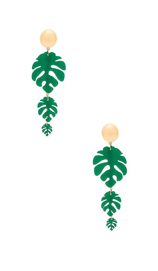 Tropical Palm Earrings by Ettika