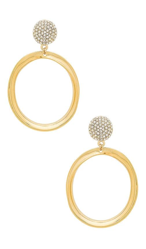 d566966a9 Ettika Drop Circle Earrings in Gold & Pearl | REVOLVE