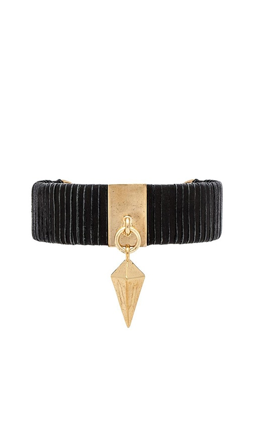 Leather Cuff with Spike Charm