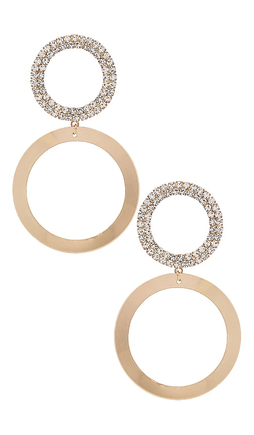 Rhinestone Hoop Earring by Ettika