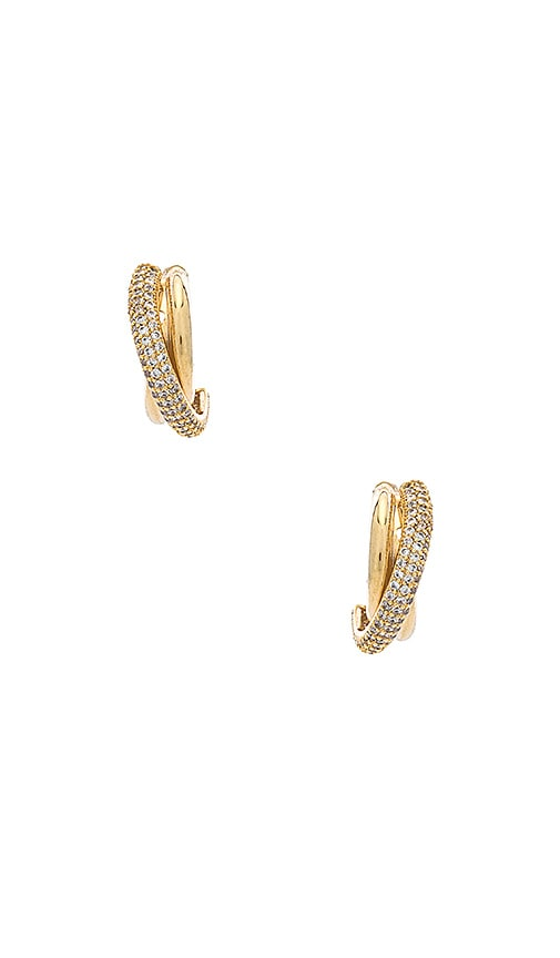 Rhinestone Layered Earring