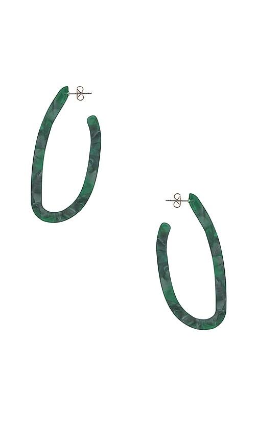 Abstract Hoop Earring