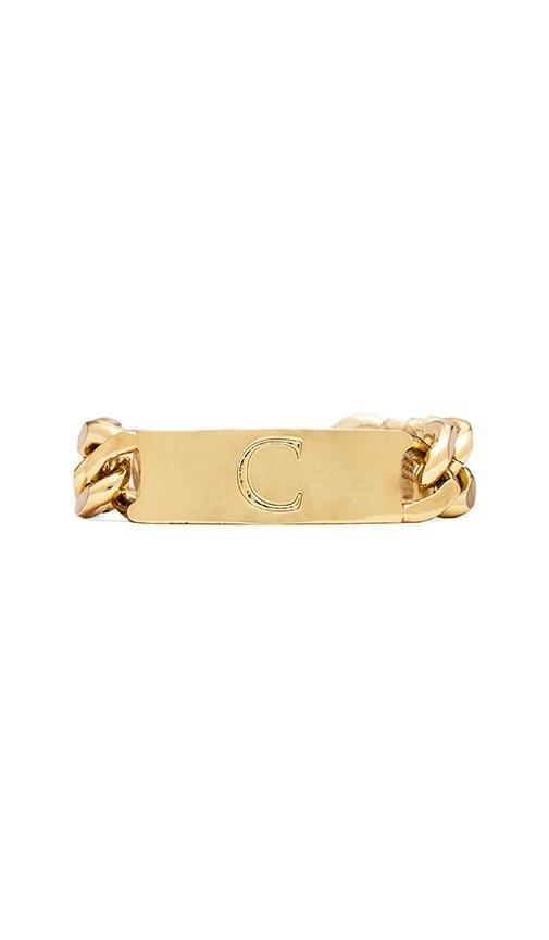 C Initial ID Bracelet