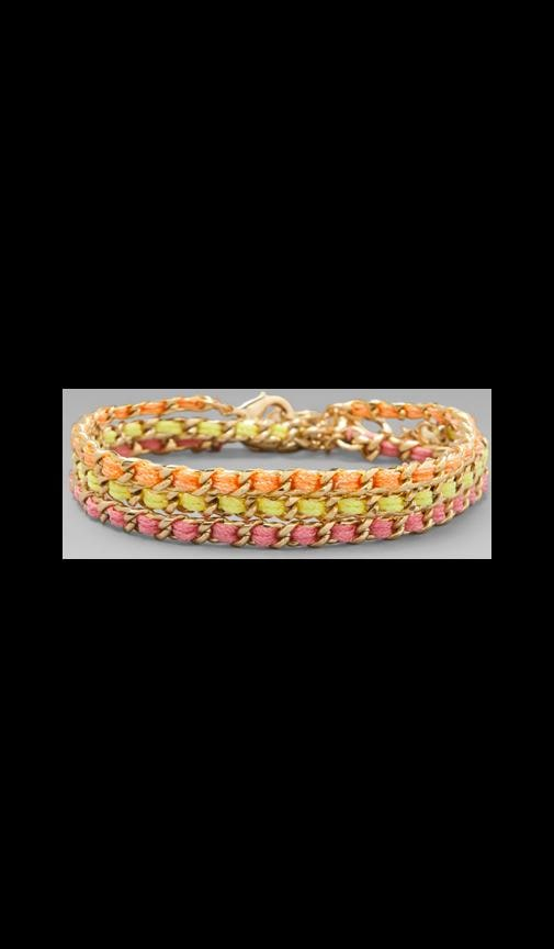 Gold Stud Wrap Bracelet