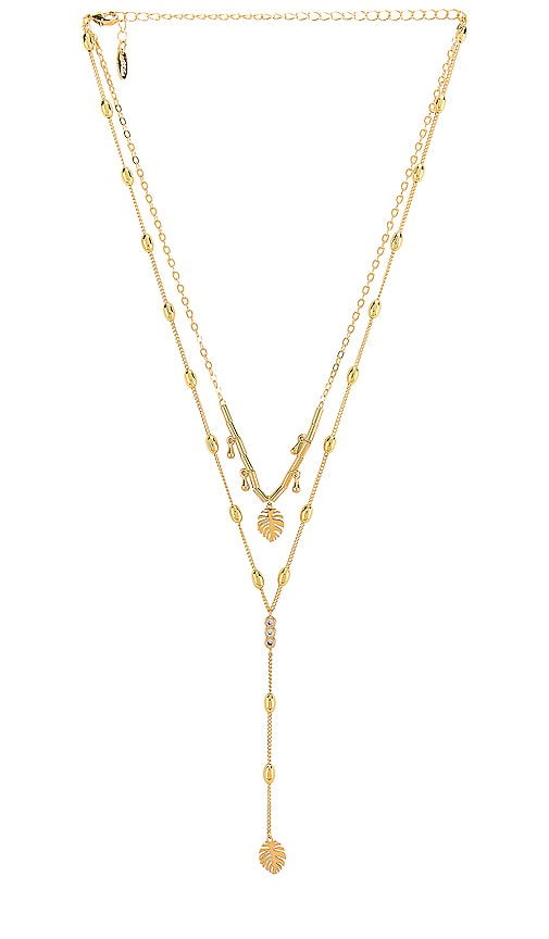 Palm Lariat Necklace