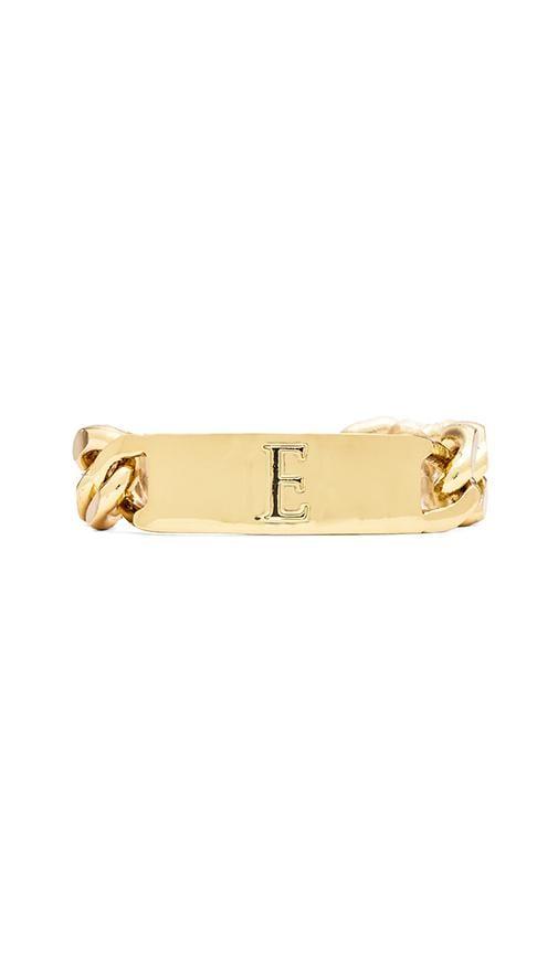 E Initial ID Bracelet