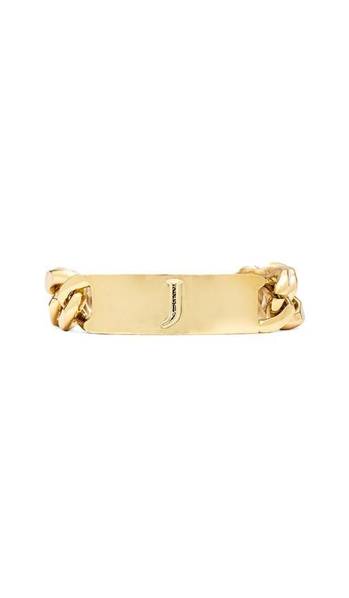 J Initial ID Bracelet