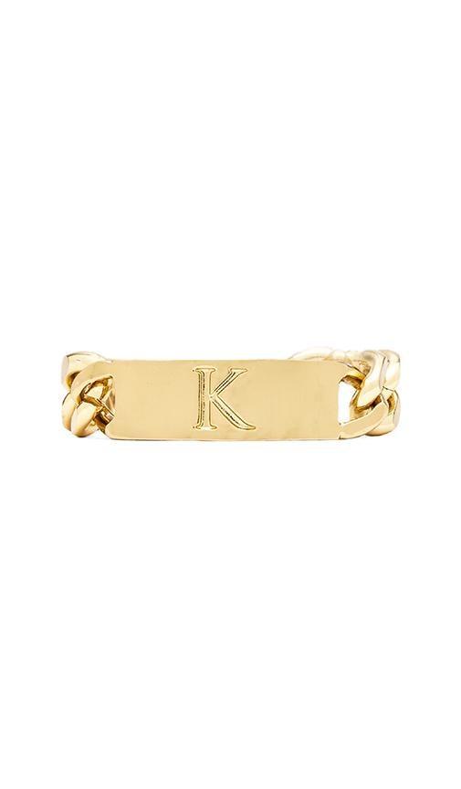K Initial ID Bracelet