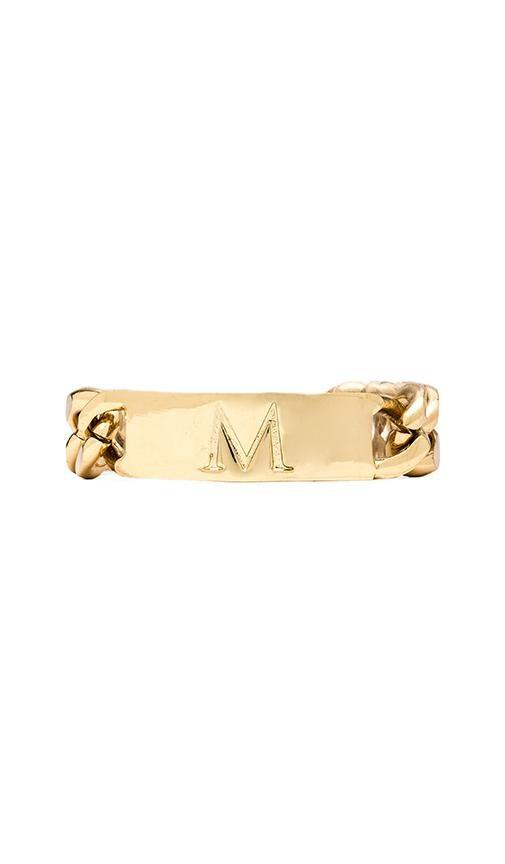 M Initial ID Bracelet