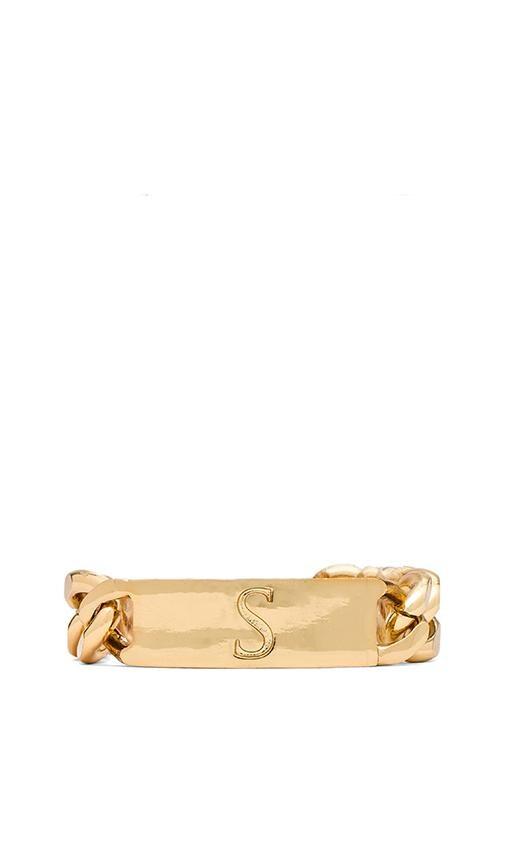 S Initial ID Bracelet