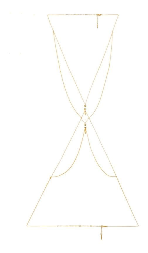 Spike Body Chain with Beads