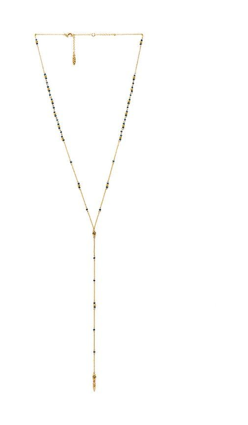 Dainty Faceted Lariat