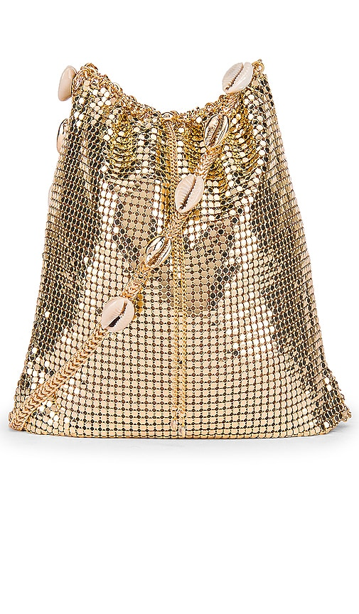 Shell & Gold Mesh Shoulder Bag