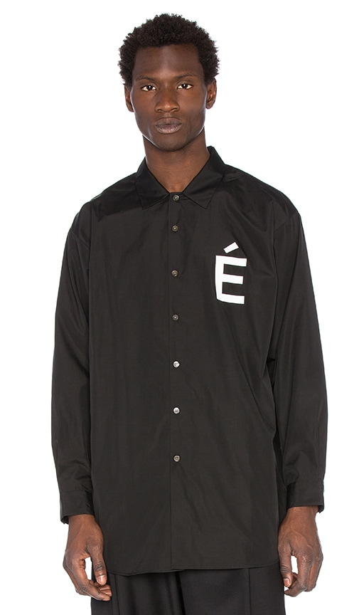 Etudes Studio Ombre Shirt in Black