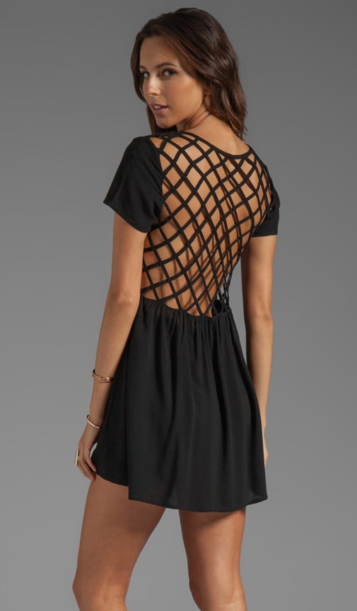 Evil Twin Paranoid Cage Back Babydoll Dress in Black  e2a6233de55d