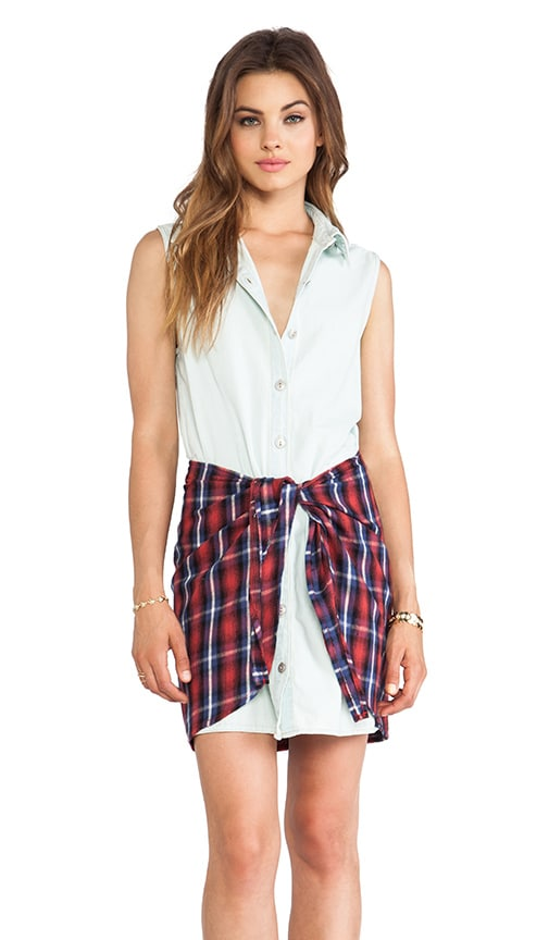 Run Riot Flannel Shirt Dress