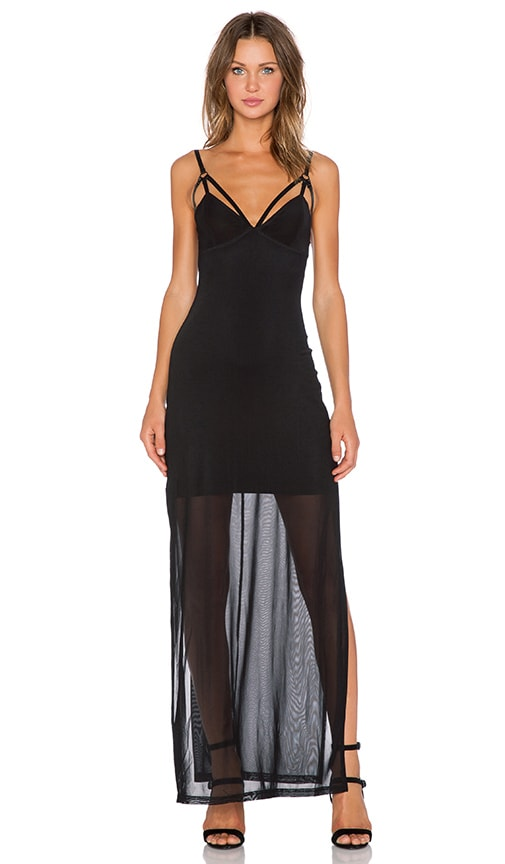 Evil Twin After Day Maxi Dress in Black