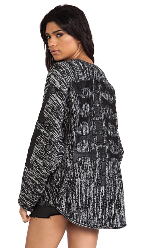 Back Boned Knitted Cardigan