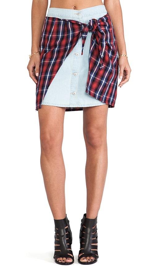 Evil Twin Run Riot Flannel Skirt in Multi  e4533c7c49a1