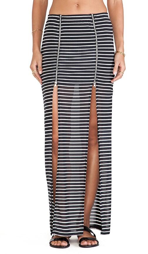 Evil Twin Fall in Line Maxi Skirt in White   Black  bc6e2facd693