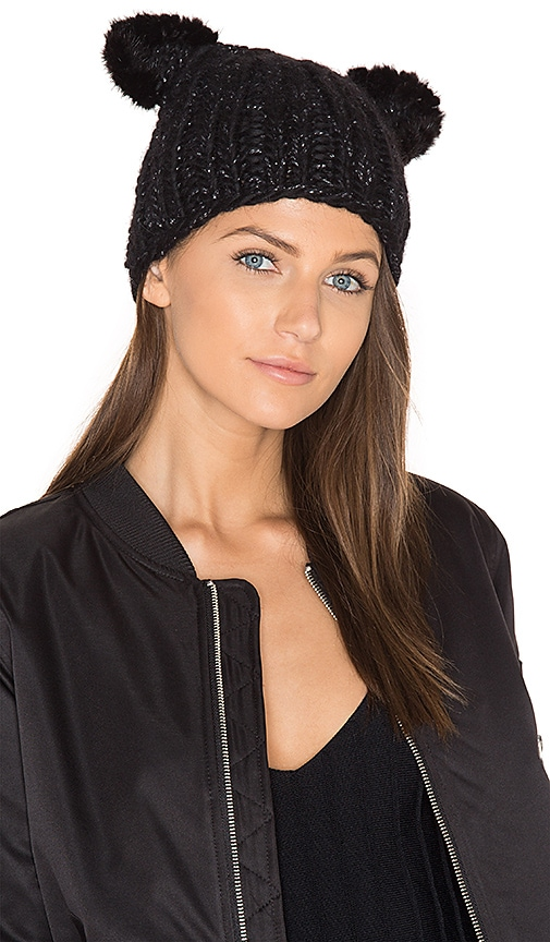 13b687c7110 Eugenia Kim Felix Beanie with Mink Fur Ears in Black