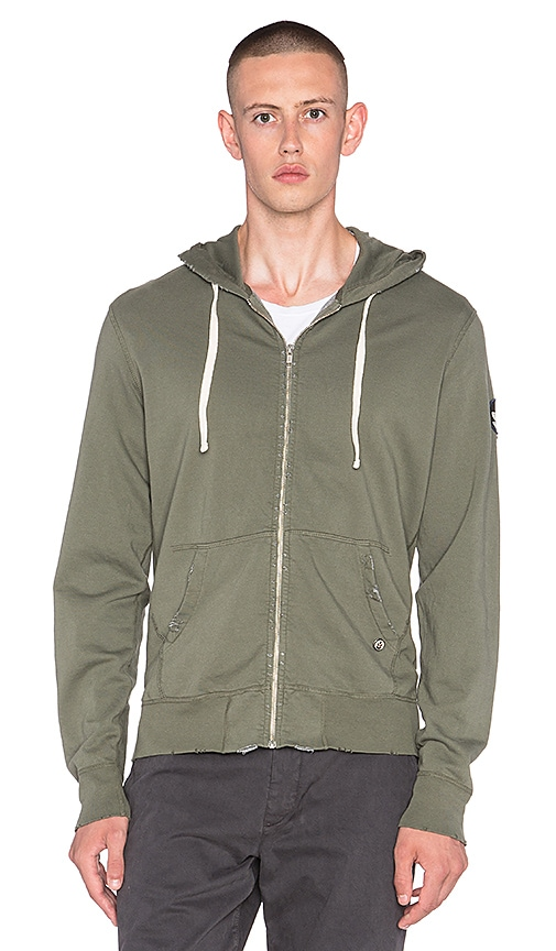 EVER Beachwood Zip Hoodie in Army