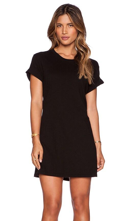 EVER Monroe T Shirt Dress in Black