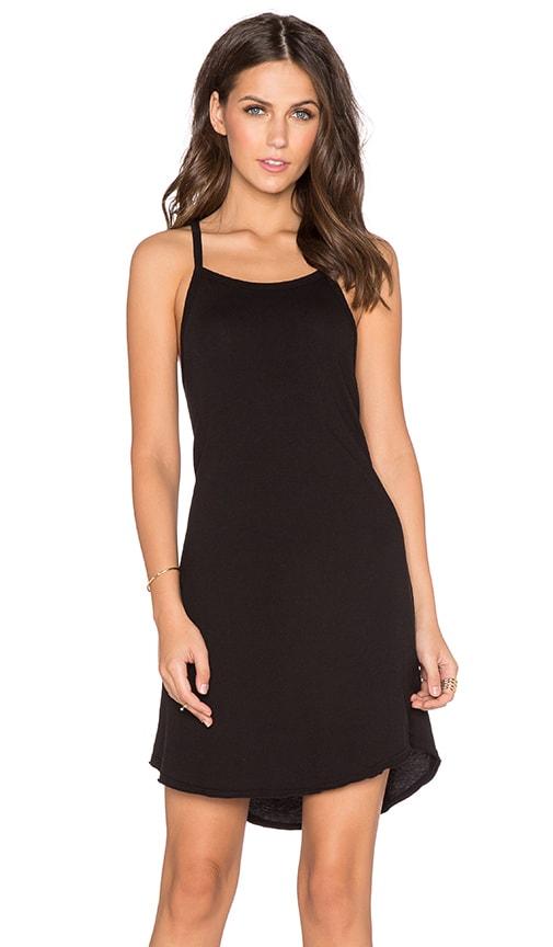 EVER Randi Square Neck Tank Dress in Black