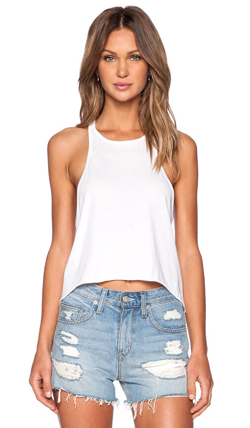 EVER Hannah Muscle Tank in White