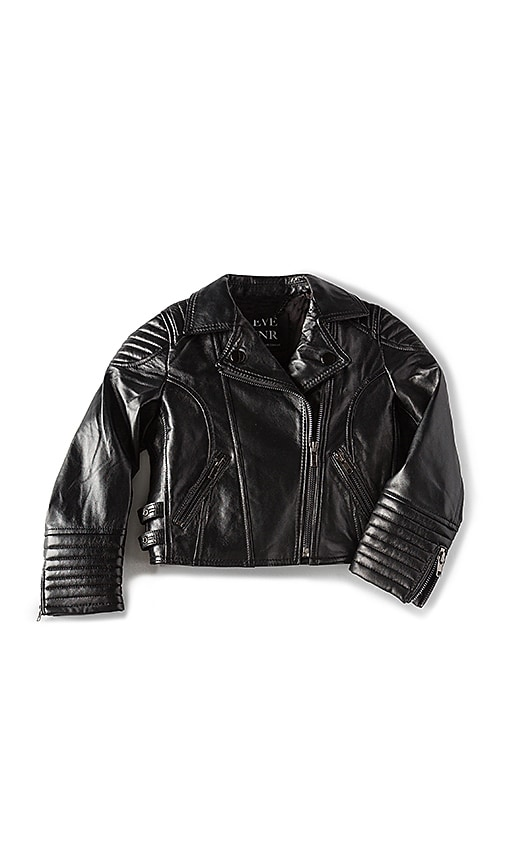 eve jnr Leather Jacket in Black