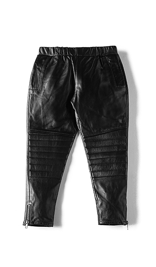 eve jnr Leather Harem Pant in Black