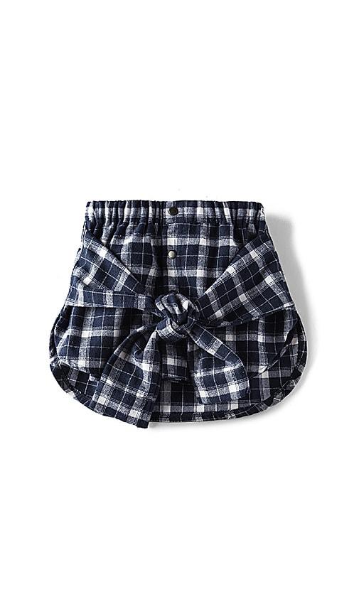 eve jnr Wrap Shirt Skirt in Blue