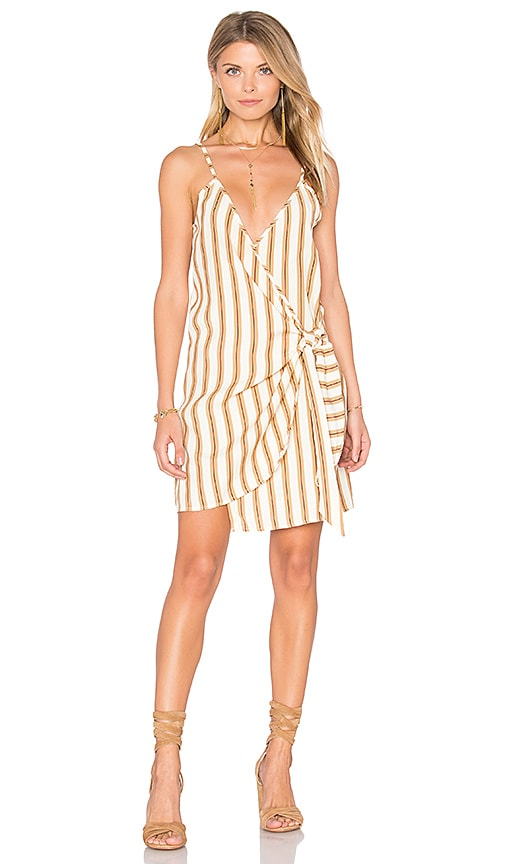 Faithfull The Brand Kara Wrap Dress in Ivory
