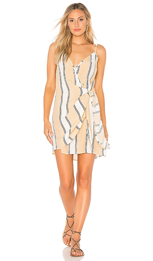 FAITHFULL THE BRAND Kara Wrap Dress in Tan