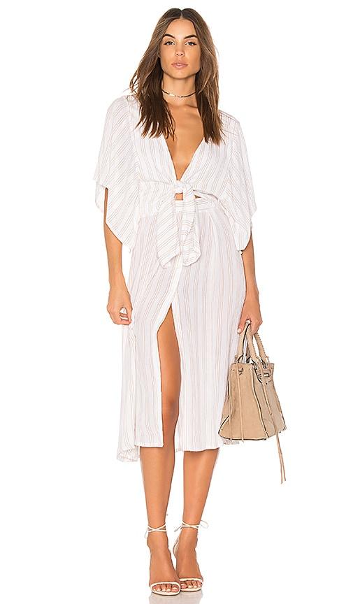 FAITHFULL THE BRAND Massimo Midi Dress in White