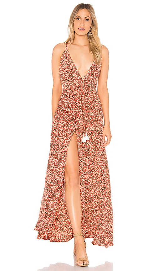 FAITHFULL THE BRAND X REVOLVE Santa Rosa Maxi Dress in Pink