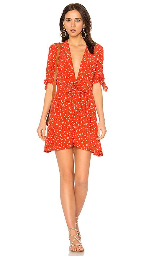 FAITHFULL THE BRAND Birgit Dress in Orange