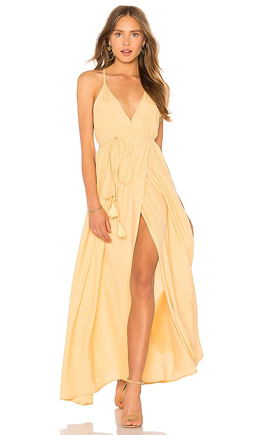FAITHFULL THE BRAND Santa Rosa Maxi Dress in Yellow