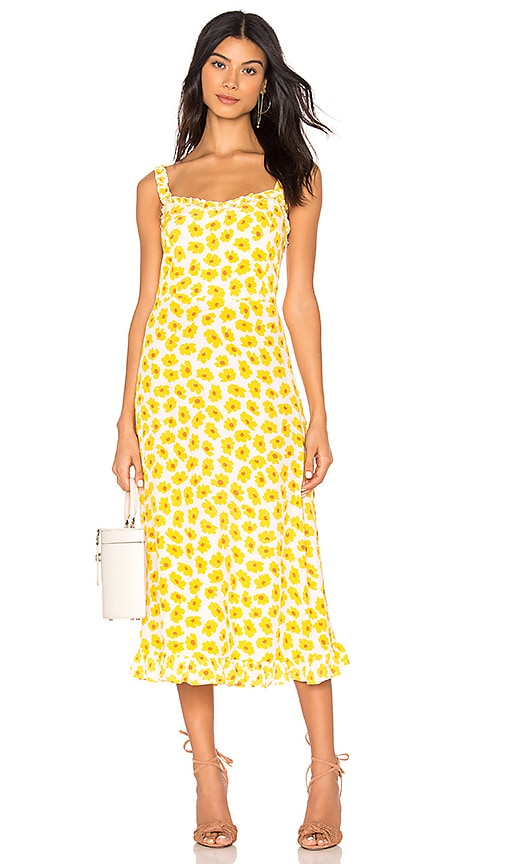 0cc7afb8a40f FAITHFULL THE BRAND Noemie Midi Dress in Marigold Constance Floral ...