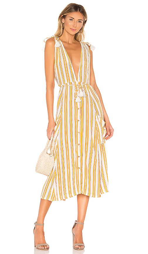a79eb4166211 FAITHFULL THE BRAND Claudia Midi Dress in Sun Azure Stripe | REVOLVE